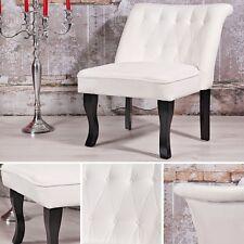 Loungesessel Weiß Gastro Stuhl Beistellstuhl Lehnstuhl Chefsessel Barockstil NEU