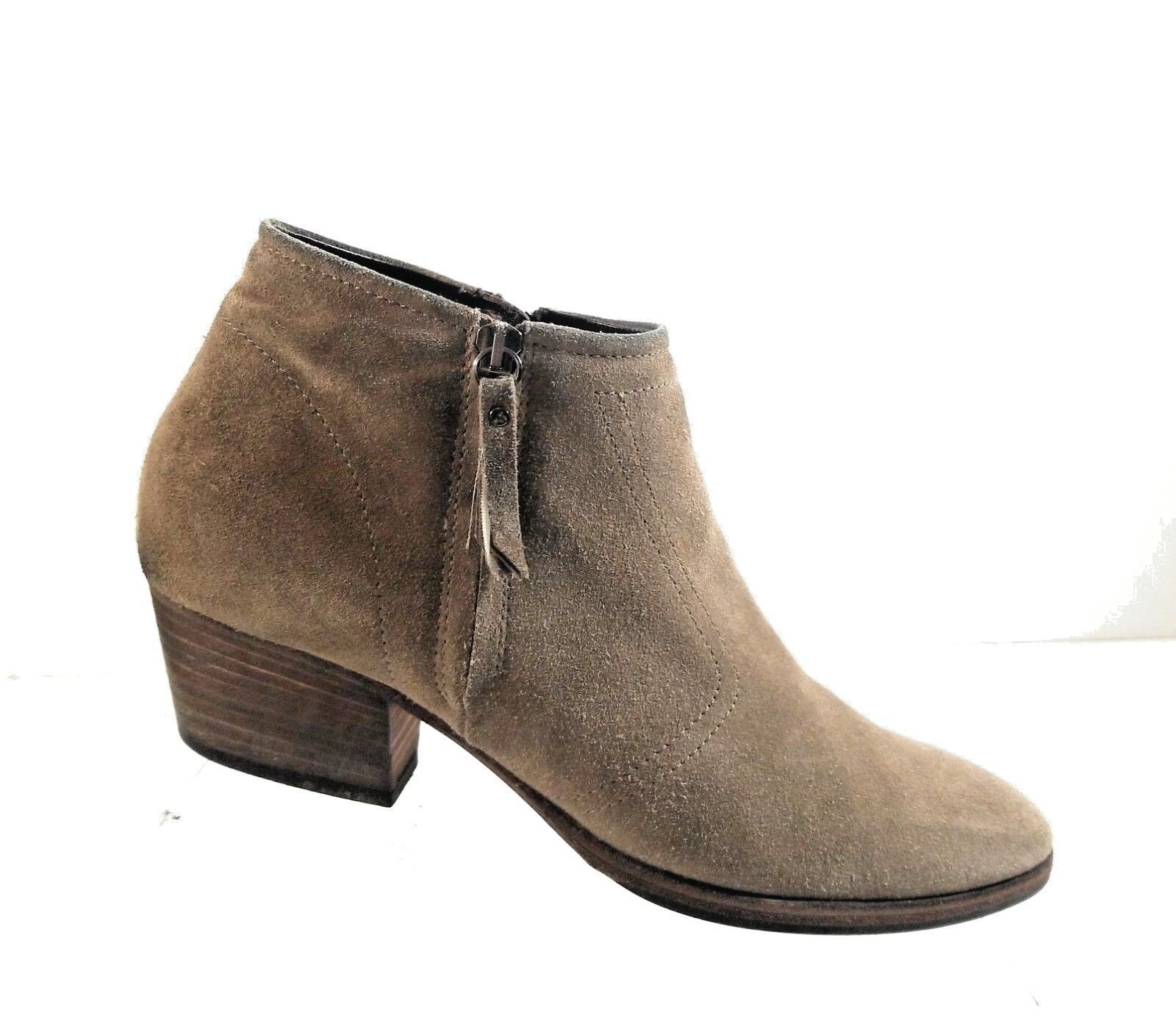 Aquatalia by Harvin K Women Booties Brown Leather Suede Zip Up Ankle Boots Sz 10