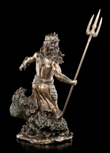 Veronese griechischer Gott Deko Große Poseidon Figur erhebt sich aus Wellen