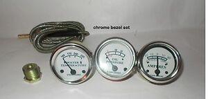 Tractor-Oil-Pressure-Ammeter-Temperature-Gauge-Set-Replacement-fits-John-Deere