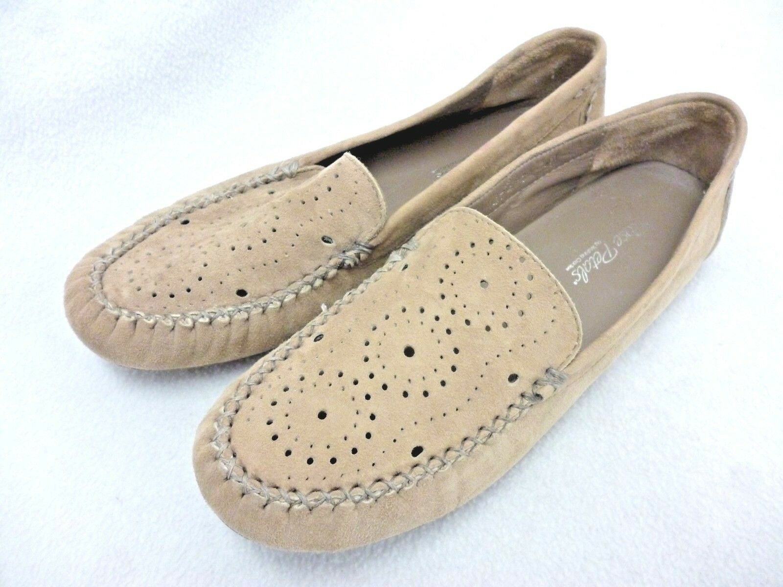 WALKING CRADLE ROSE PETALS WOMEN'S SHOES SIZE 7M BEIGE SUEDE LOAFER FLATS
