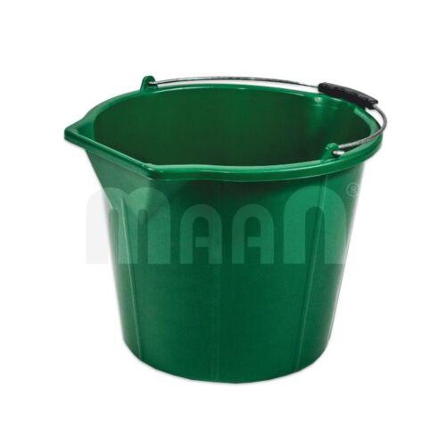 10x16L STRONG Green Baueimer Eimer Putzeimer Wassereimer Mörteleimer Maurereimer