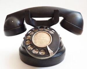Ancien-telephone-en-Bakelite-noir-vers-1950-telephon