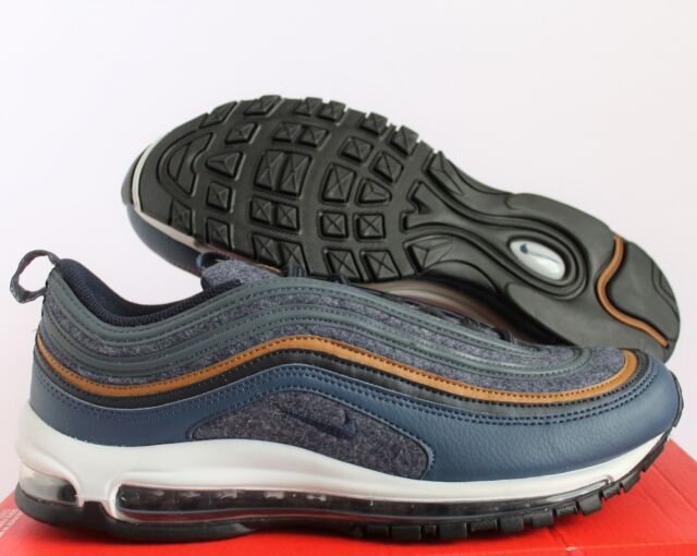 af039193b4 NIKE MEN AIR MAX 97 PREMIUM THUNDER BLUE-DARK OBSIDIAN SZ 10.5 [312834-
