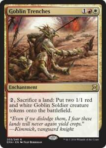 MTG-Eternal-Masters-x2-Goblin-Trenches-203-249-Rare-NM-M-Magic-the-Gathering