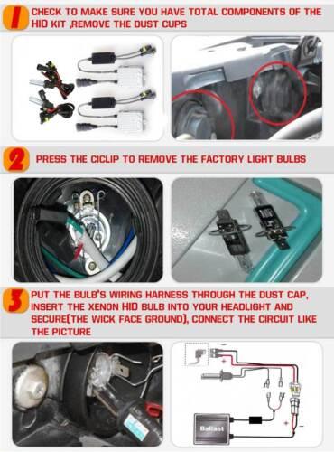 2x55W H4 H7 H1 H11 9005 9006 HID Xenon Conversion Kit 6000K 8K 10K Car Headlight