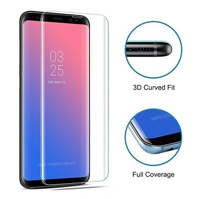 zys Black ZHANGYUNSHENG 25 PCS for Galaxy S9 Plus 9H Surface Hardness 3D Curved Edge Anti-Scratch Full Screen HD Tempered Glass Screen Protector Color : Transparent