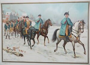 """Werner Chromolithograph """"Commander In Chief, Staff Officer, Colonel and Private"""