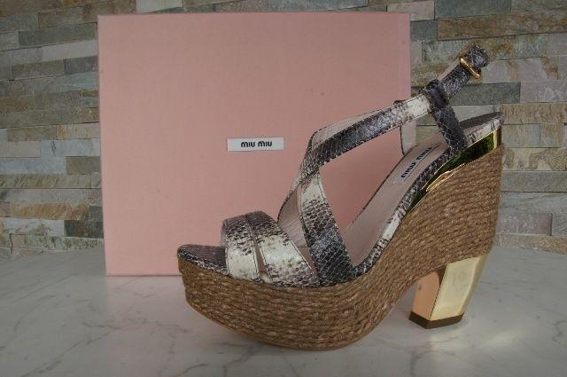 MIU MIU Dimensione 40,5 Piattaforma Sandals scarpe 5xz127  Marronee  fino al 60% di sconto