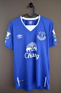 the latest 3d015 b5f6e Details about EVERTON 2015 2016 HOME UMBRO ORIGINAL FOOTBALL SHIRT JERSEY  CHANG Size S PATCHES