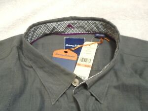 Tommy-Bahama-Linen-Cotton-Blend-Linen-Legend-Sport-Shirt-NWT-3XL-110-Gray