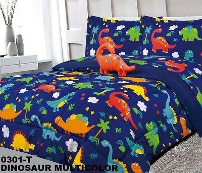 Dinosaurs Kids Boys Cute Comforter Set, Full Size Bedding For Toddler Boy