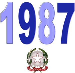 ITALIA-Repubblica-1987-Singolo-Annata-Completa-integri-MNH-Tutte-le-emissioni