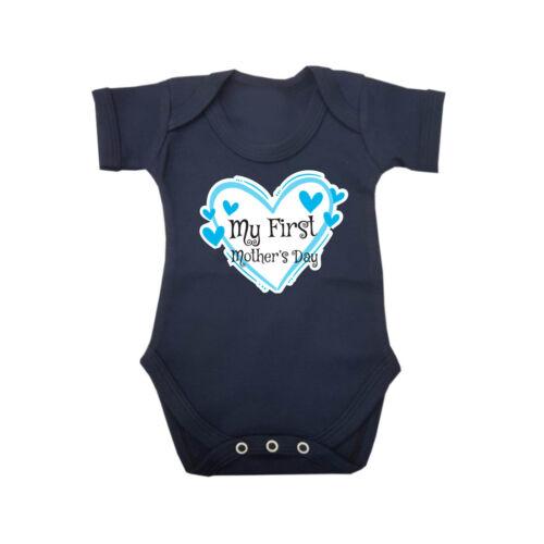 My First Mother/'s Day Gift Short Sleeve Boy Girl Baby Grow Vest Newborn 0-18M D3