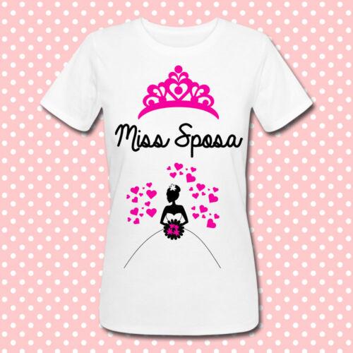 personalizzabile idea regalo matrimonio e addio al nubilato T-shirt Miss Sposa