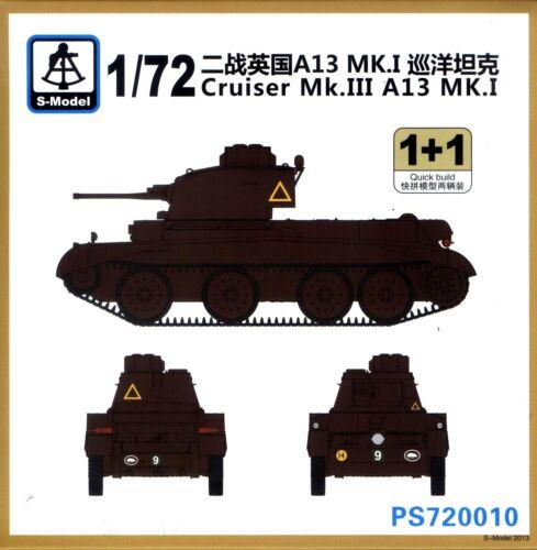 2 Tanks per Box S-Model 1//72 720010 WWII British Cruiser Mk.III A13 MK.I