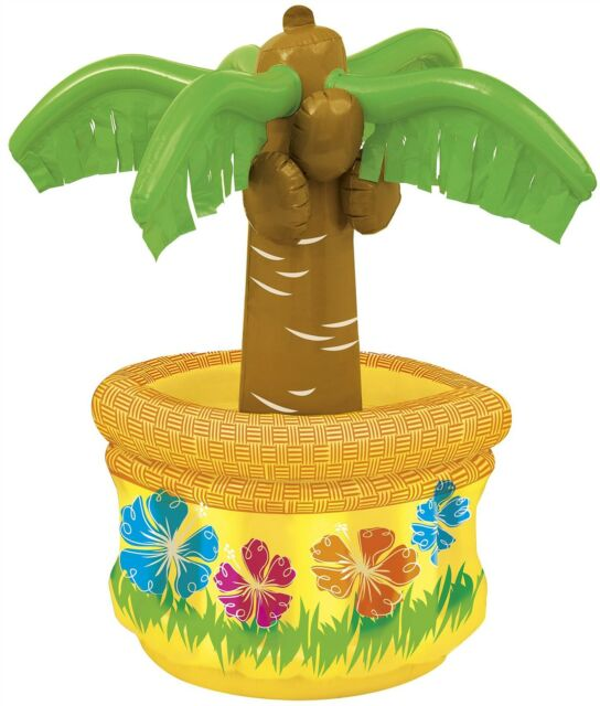 """Palm Tree Drink Beer Cooler 26"""" Garden Party Decoration Luau Tropical BBQ Summer"""