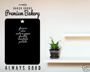 LAVAGNA ADESIVA CUCINA LAVAGNETTA DA CUCINA STICKER Premium Bakery ...