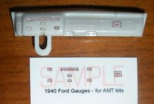 1940 Ford Coupe Delivery and Sedan Gauge Faces for 1 25 Scale AMT Kits