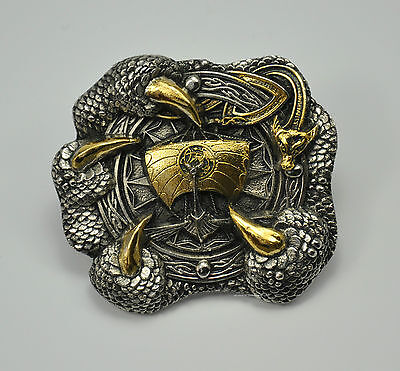Wikinger Belt Buckle Gürtelschnalle Kelten Thor Odin Mittelalter Normannen *386