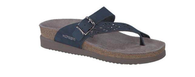 Mephisto Helen Perf n Azul Marino Nubuck Comfort Sandal Sandal Sandal mujer Tallas 35-42    nuevo  punto de venta