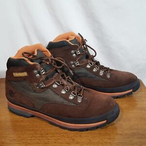2b56e2de3ef6e Image is loading Timberland-95354-Brown-Lace-Up-Suede-Hiking-Trail-