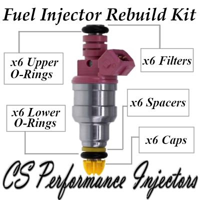6 OEM Bosch Fuel Injectors Set 0280150440 for 1996-2000 BMW 2.8L 3.2L I6