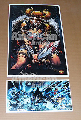 Wonder Woman Armor Sword Poster David Finch Richard Friend BRAND NEW Jim Lee