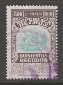 Chile-fiscal-Revenue-stamp-8-9-20-better-denomination-500-peso
