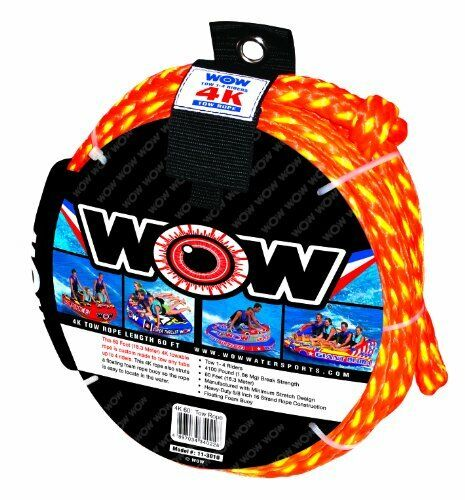 WOW World of Watersports 11-3010 Tow Rope up to 4 Riders 60 Feet 4100 Pounds ...