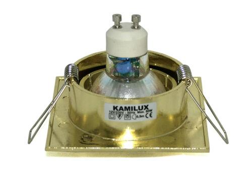 Kamilux GU10 /& 7W LED-Strahler = 70W 230Volt LED Einbauleuchten K92155 Quajo v