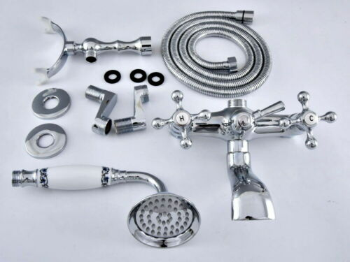 """Adjusts From 3-3//8/"""" fqg418 Silver Chrome Bathroom Claw foot Tub Faucet Taps"""