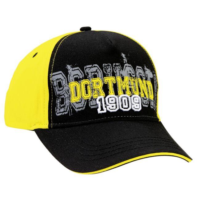 "Borussia Dortmund KAPPE ""1909""  schwarzgelb BVB Kappe 1909-Kappe schwarzgelb Cap"