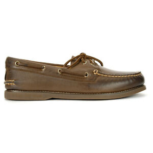 Sperry-Men-039-s-Gold-Cup-Authentic-Original-2-Eye-Brown-Boat-Shoes-STS16934-NEW
