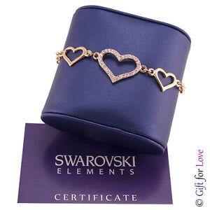 Armband-Damen-Gold-Swarovski-Elemente-Original-G4Love-Kristalle-Hearts-Madchen