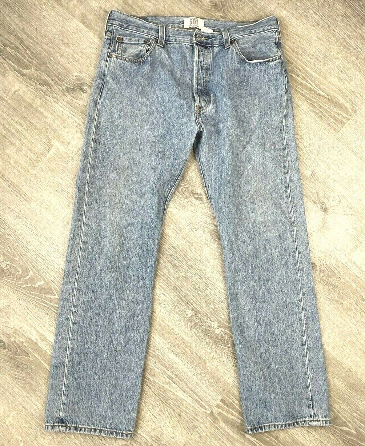 Levis 501 Jeans Mens Distressed Worn In MEASURES … - image 2