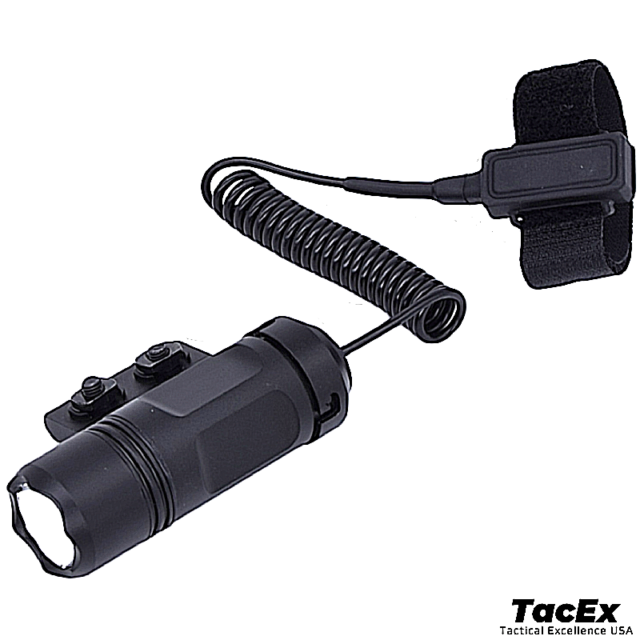 5000LM XM-L T6 LED Flashlight Torch Tactical Pressure Switch Mount Hunting Light