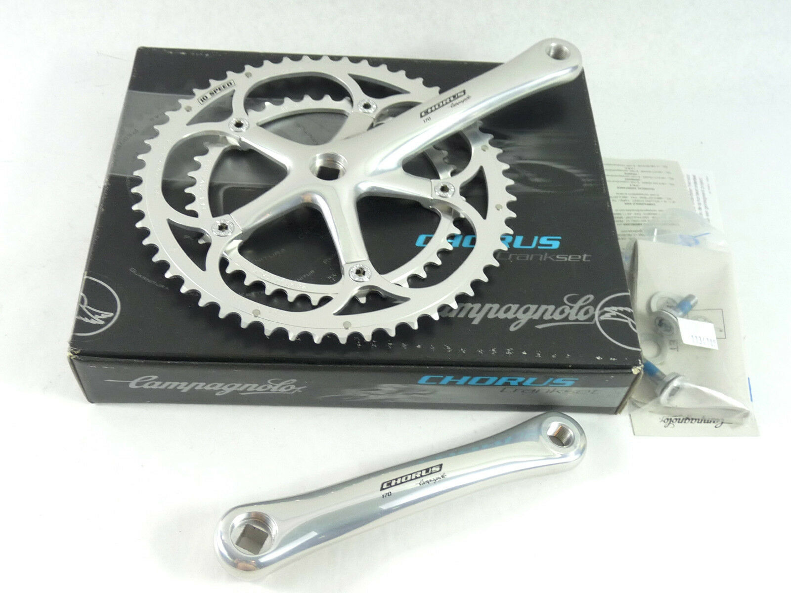 Campagnolo Crankset Chorus 10 Speed 170mm 53 39 W Crank Bolts Road Bicycle NOS