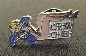 Collectible Enamel Pin Up Girl Lapel Pin Hat Pin Shirt Pin Crew Chief