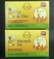2 Bx Dr Ming Pineapple Tea 30 Bags Ea (60 Total) Original-te De Pina Pinaterapia