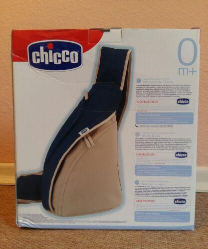 Neu Chicco Thermo Schultertasche Rucksack mit Wärmeisolierschicht blau-beige