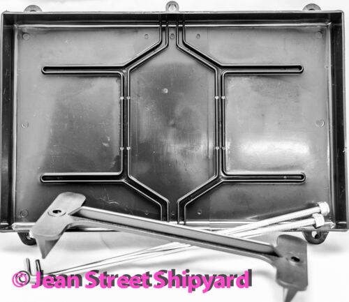Marine Boat Battery Tray Box Stainless Hold Down Rods Group 27 and most 31 22041