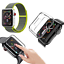 CINTURINO-COVER-VETRO-TEMPERATO-9H-per-Apple-Watch-5-4-3-2-44-42-40-38-mm miniatura 14