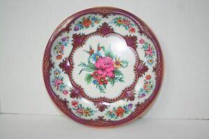 Daher Decorated Ware Vintage Floral Tin Serving Bowl