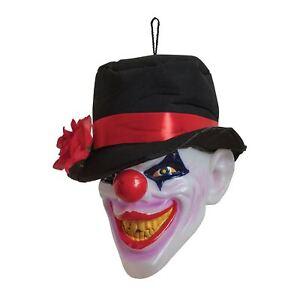 """Importé De L'éTranger Clown Tête Effrayant Avec Light & Sound, Décoration Halloween/accessoire, Déguisements-p, Fancy Dress"""" afficher Le Titre D'origine Haut Niveau De Qualité Et D'HygièNe"""