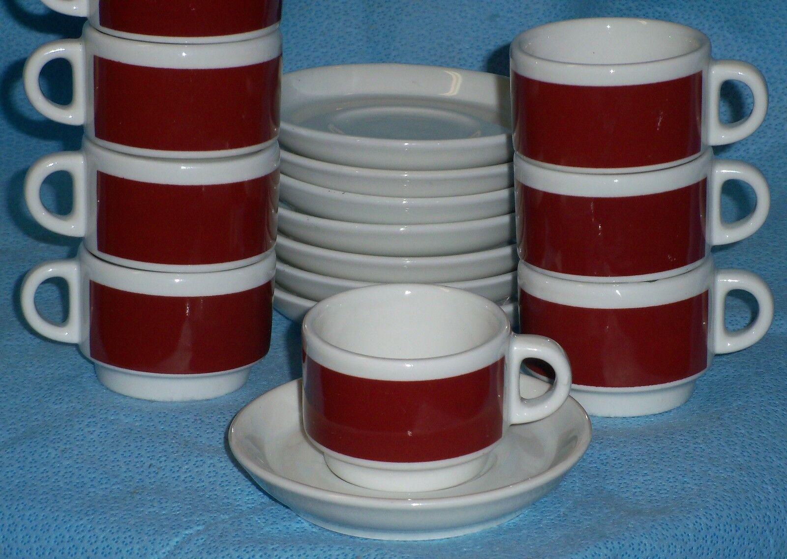 Lot de 8 IPA Italie espresso Tasse à Café & Soucoupe - 3 oz (environ 85.05 g) Résistant Restaurant Grade
