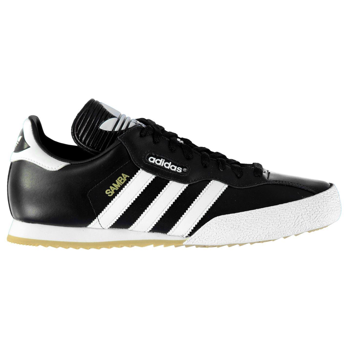 New 2018 Adidas Original Mens Samba Super Shoes Trainers Black/White Sizes 4-14
