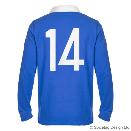 Retro 70s France Rugby Jersey French Blue Shirt Numbers Vintage Style Sweater
