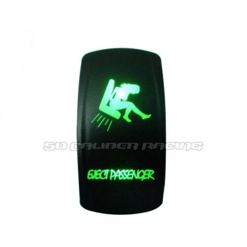 Eject Passenger Design Rocker Switch Waterproof Green Illuminated 12V 24V On/Off
