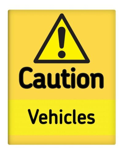 "Caution Vehicles 8x10/"" Metal Sign Safety Construction site Business Plant #170"